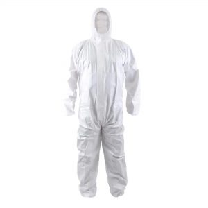 buzo protector desechable blanco